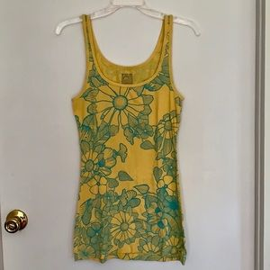 Mossimo floral long & lean tank